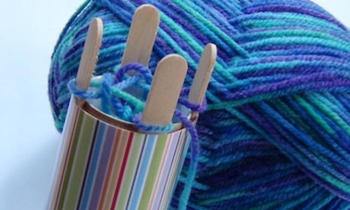 Winter craft: Make a French knitting machine