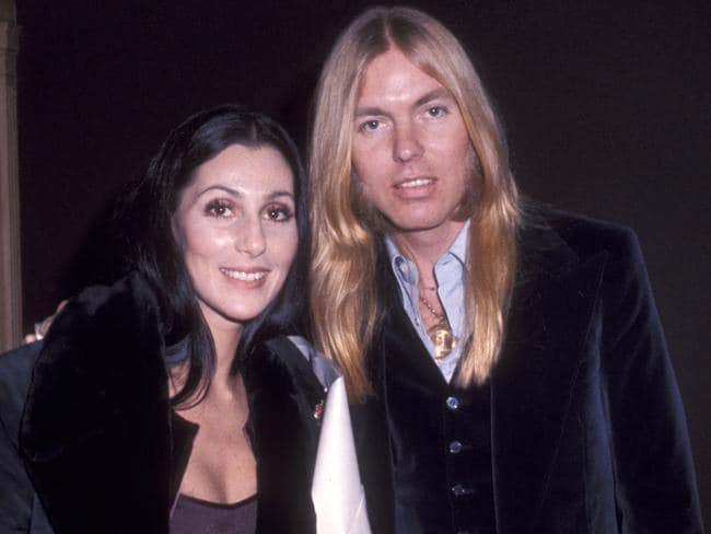 Singer Cher and musician Gregg Allman. Picture: Ron Galella/WireImage
