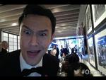 "BEHIND THE SCENES OSCARS 2014: The Academy posts, ""Backstage at The Oscars in the Arch Digest Green Room with Joseph Gordon-Levitt."" Picture: Twitter"