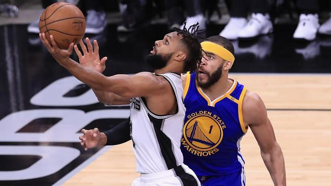 Patty Mills and the Spurs will be seeking retribution against the Warriors. Picture: Getty Images/AFP