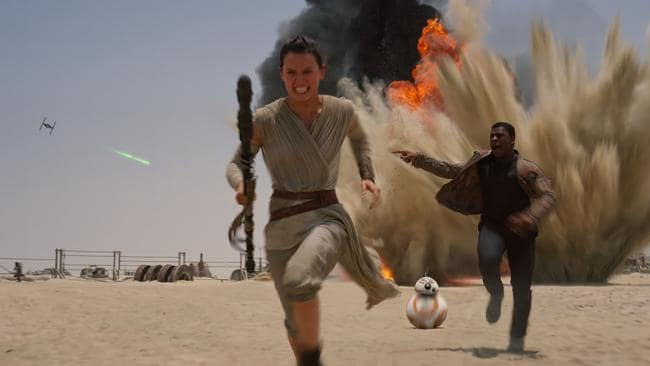 The Force Awakens ... With the right mix of gusto and humour, there is plenty of action and story twists keeping viewers on their toes. Picture: Disney / Lucasfilm via AP