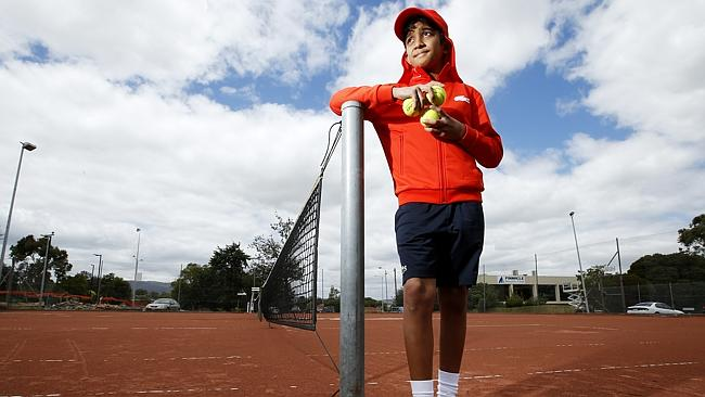 Ball boy Rohan Panicker, 14, has already signed on for a second season as a ball boy at the Australian Open.