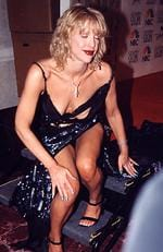 Courtney Love during 2000 Golden Globes Awards at Beverly Hilton Hotel in Beverly Hills, California, United States. Picture: Jeff Kravitz/FilmMagic, Inc