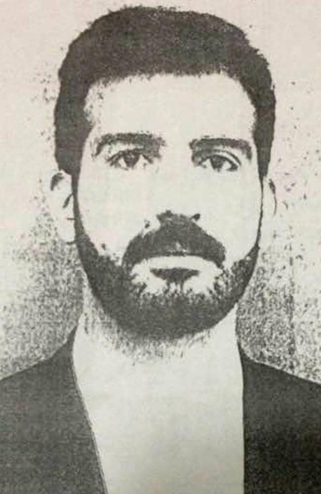 Double life ... Man Haron Monis was born Mohammad-Hassan Manteghi Borujerdi. This was the photo that was hanging on the wall of his office at the travel agency in Tehran where he was managing director. Picture: Supplied