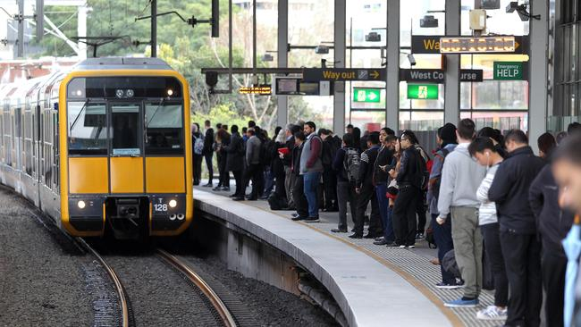 The proposed Western Metro is planned to relieve congestion on the current Parramatta to CBD line.