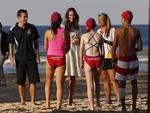Catherine, the Duchess of Cambridge meets with young surf lifesavers