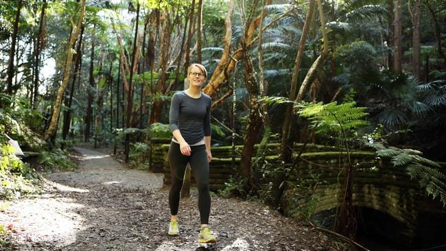 "Prideaux Joyce on her city ""bush walk"" in Woollahra. Picture: Tim Hunter"