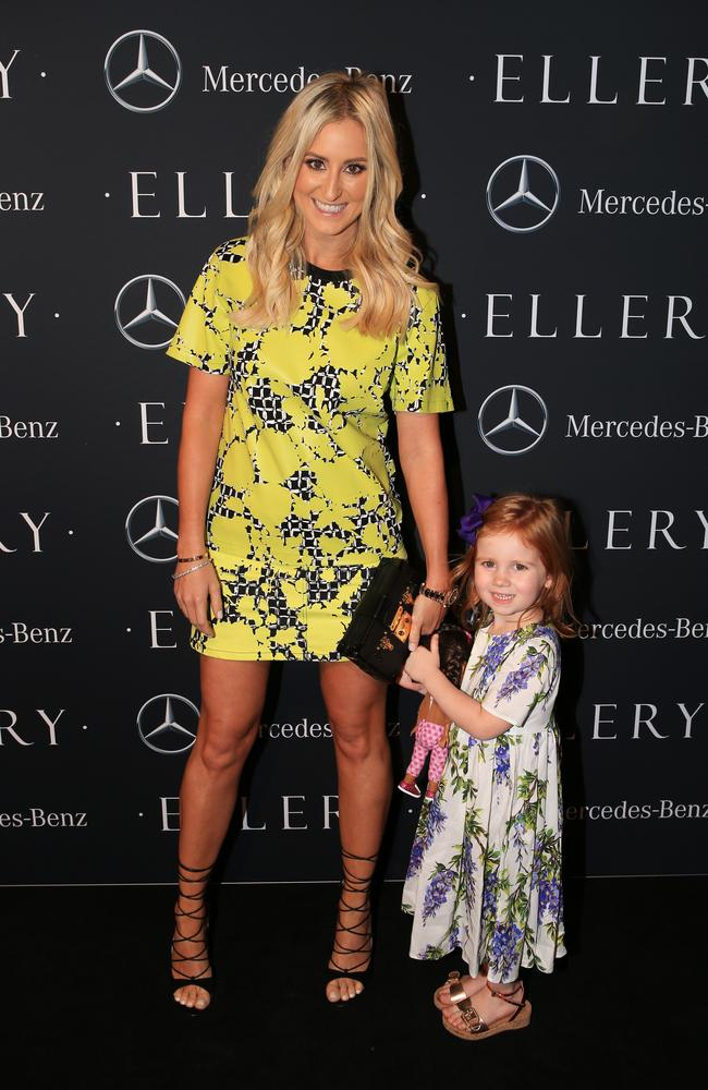 Roxy Jacenko and daughter Pixie Curtis at Mercedes Benz Fashion Week. Picture: Toby Zerna.