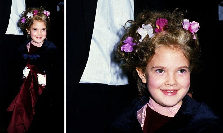 <b>DREW BARRYMORE - 1982</b>  <p>Drew has been rocking the red carpet since she hit the big time at the age of 7. (Who else feels like watching E.T. now?)</p>  <p>What a cutie!</p>