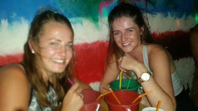 Lucy Anne Hill and Lauren Hall in Thailand.