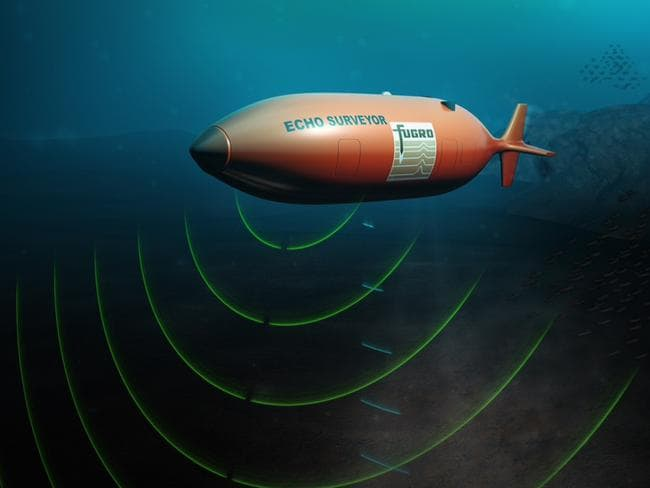 An illustration of the Fugro autonomous underwater vehicle (AUV) launched from the Australian-contracted survey ship M/V Fugro Discovery this month in the search for MH370.
