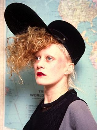 Alannah Currie of the Thompson Twins in her quirky hat.