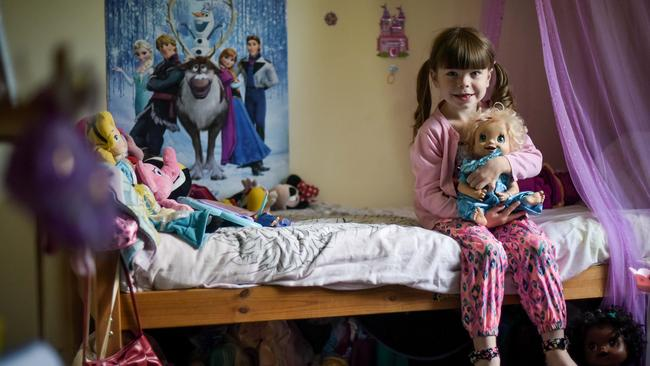 Danni McFadyen is pictured in her bedroom in the Scottish Highlands. Picture: Snapper