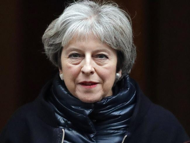 Britain's Prime Minister Theresa May warned Brexit will undermine European security unless a new agreement can be struck quickly with the EU. Picture AFP