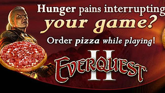 Hungry? Why even leave the video game? Well, to pay the delivery guy. But at least I don?t have to pause twice, amirite?