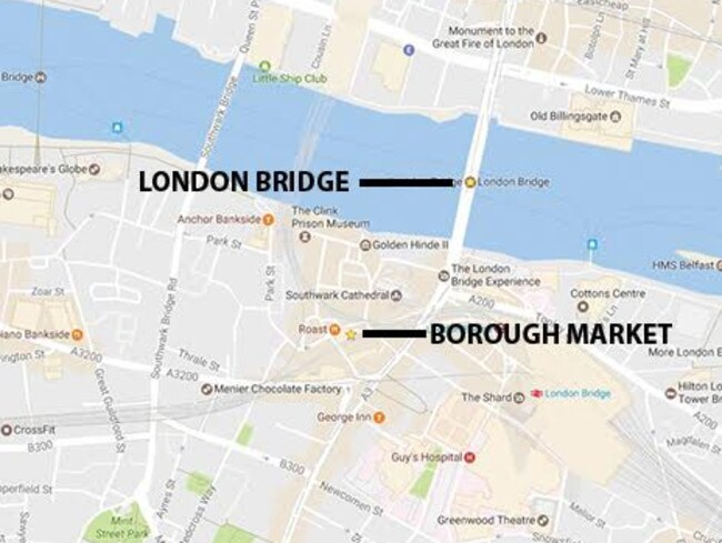 Map of London where the attacks have been reported.