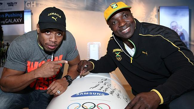 Winston Watts and Marvin Dixon, Jamaica's 2-man bobsleigh team at the Sochi 2014 Winter Olympics. Picture: Getty