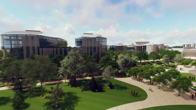An artist's impression of the Petrie campus.
