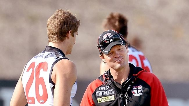 Dal Santo with former Saints coach Scott Watters in 2013.