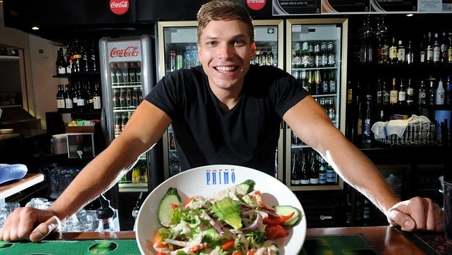 The appeal of living close to the many eating establishments along The Parade is listed as one appeal of Maylands, such as the Caffe Primo. Manager Jonny Ratke is pictured here. Picture: Keryn Stevens.