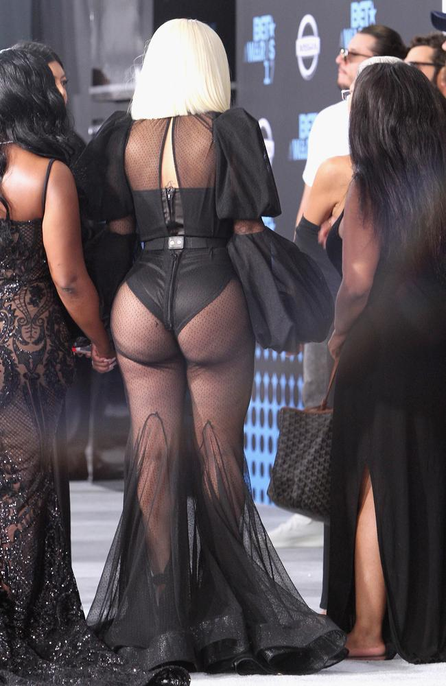 Blac Chyna gets cheeky at the 2017 BET Awards in Los Angeles.