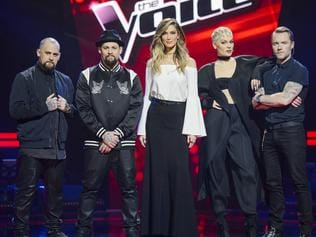 The Voice Australia 2016. Benji Madden, Joel Madden, Delta Goodrem, Jessie J, Ronan Keating. Picture: Channel 9