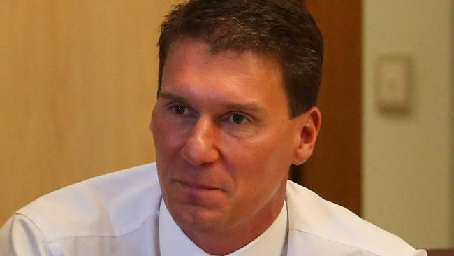 Reconsider ... Cory Bernardi wants his government to review section 18C of the Racial Discrimination Act. Picture: Kym Smith/News Corp