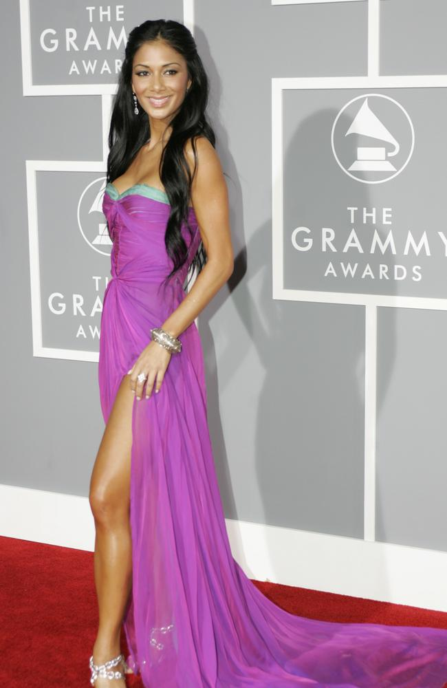 Singer Nicole Scherzinger of the Pussycat Dolls arrives at the 2007 Grammy Awards.