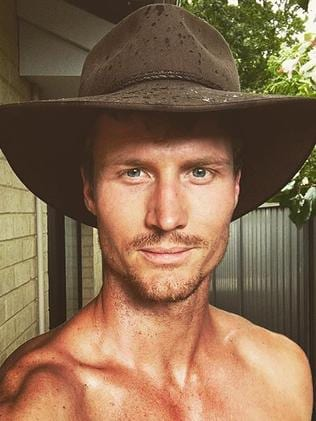 ... at least his hat is providing some sun protection. Picture: Richie Strahan / Instagram
