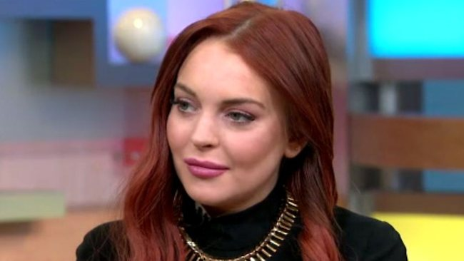 Lindsay Lohan in a recent television appearance.