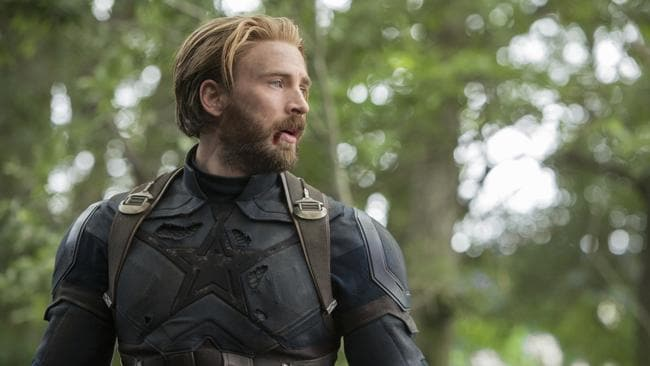 Chris Evan as Cap, aka 'The First Avenger'. Picture: Chuck Zlotnick/Marvel Studios 2018