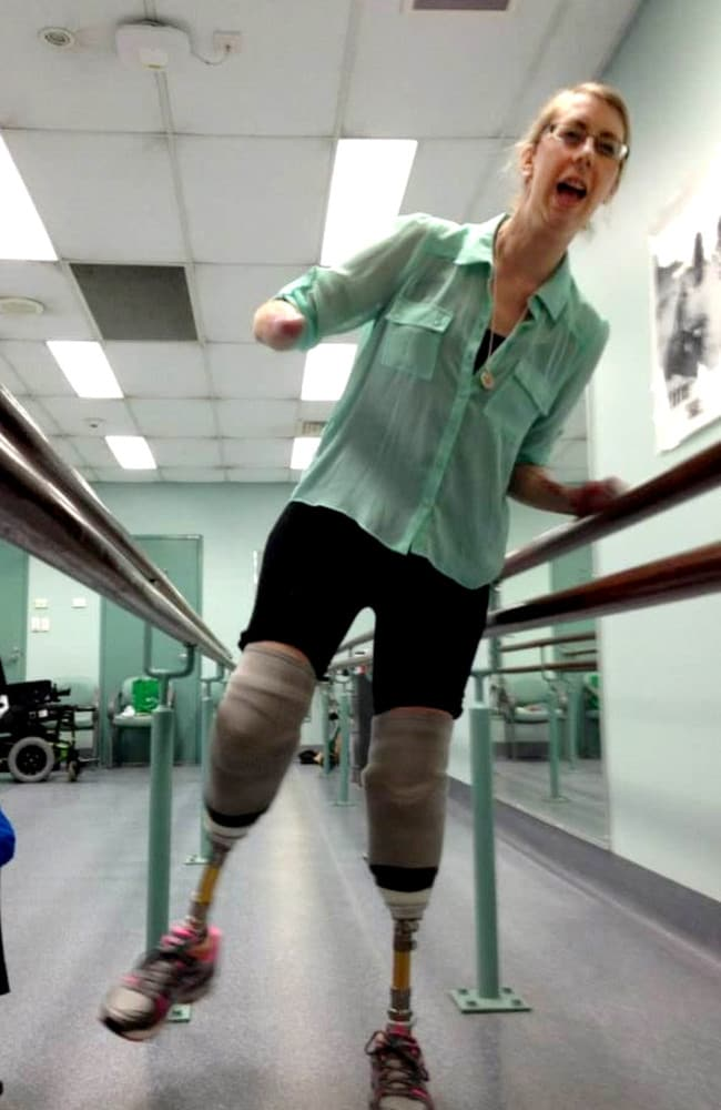 Korrin Barret during her rehab.