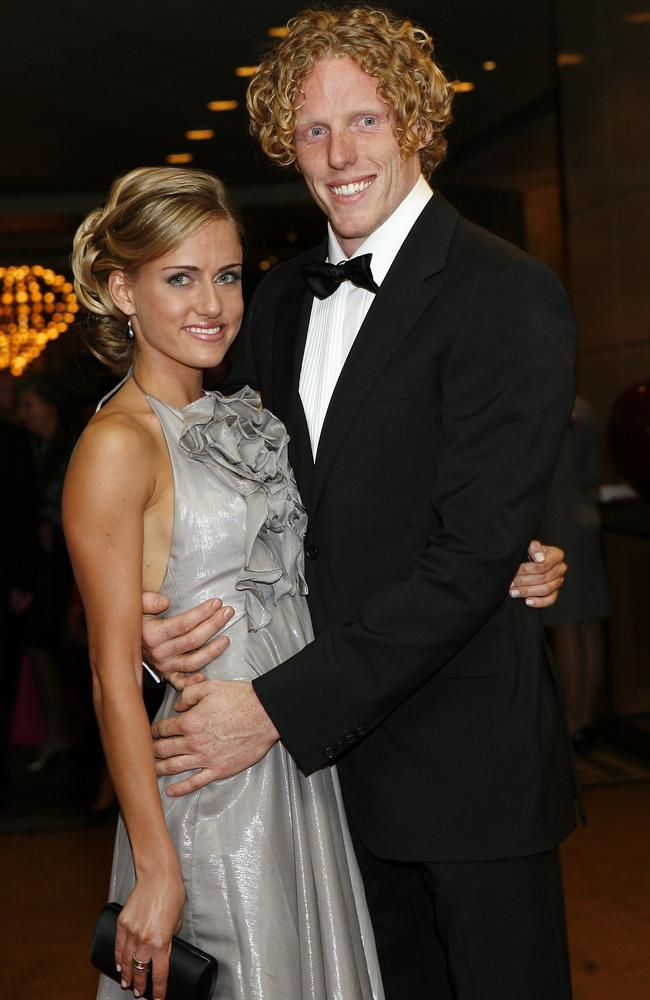 Steve Hooker with his wife, Ekaterina Kostetskaya.