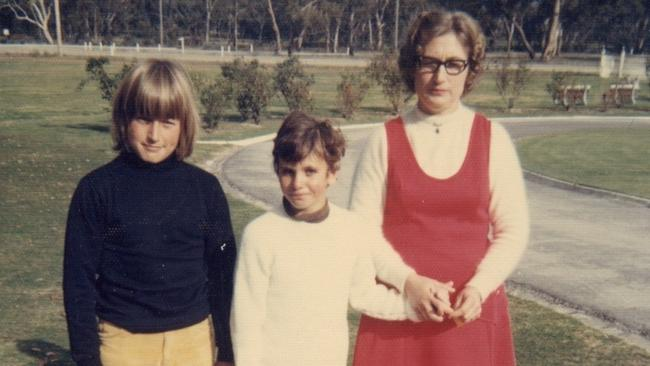 Jane Rosengrave, centre, aged seven years old at Pleasant Creek Training Centre in Stawell not long after a male staff member at the Centre started sexually abusing her.