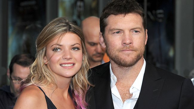 A more recognisable Sam Worthington and his girlfriend Crystal Humphries at the premiere of Wrath of the Titans. Picture: Splash News