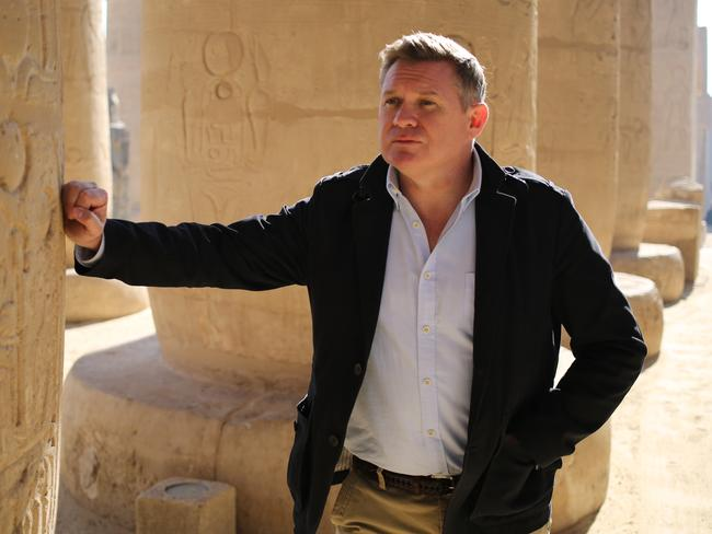 Michael Usher visited Egypt to find what's hiding inside King Tut's tomb. Picture: Channel Nine