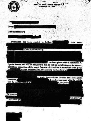Sign of things to come? This artwork depicts a heavily censored CIA document. Source: Supplied