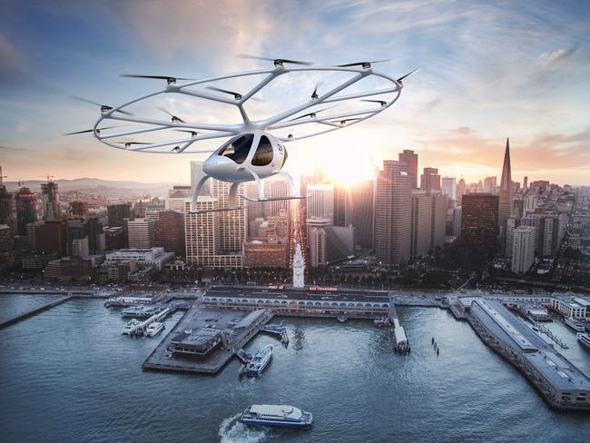The flight of the future, the Volocopter. Picture: Volocopter.com