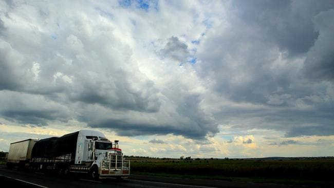 Storm clouds brew over Darling Downs country over Toowoomba. Picture: Jono Searle