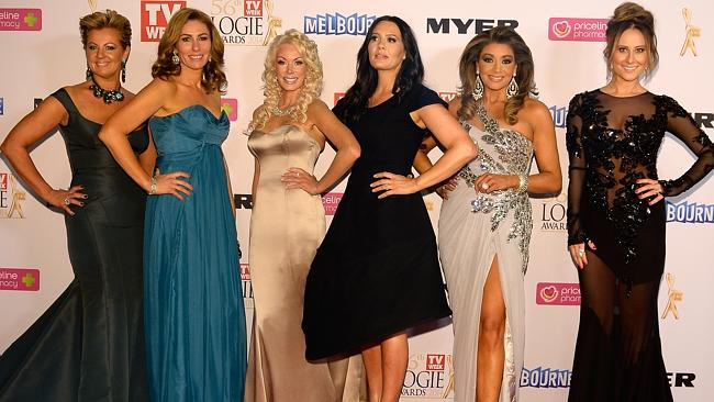 Real Housewives of Melbourne during the Red Carpet Arrivals ahead of the 56th TV Week Logie Awards