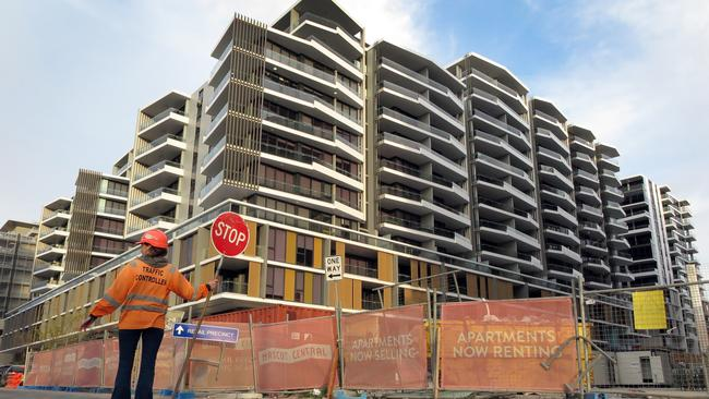 Apartment blocks are going up everywhere from the inner-city to outer suburbs. Picture: William West