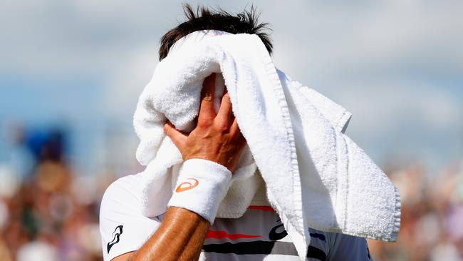 Marinko Matosevic during his victory over Marin Cilic at Queens.