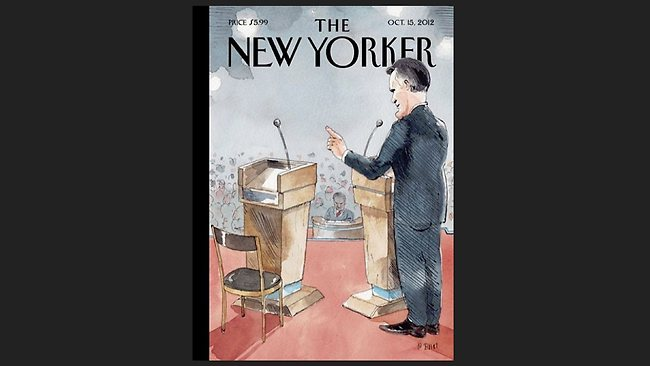 This is how The New Yorker characterised President Obama's performance at the first presidential debate.