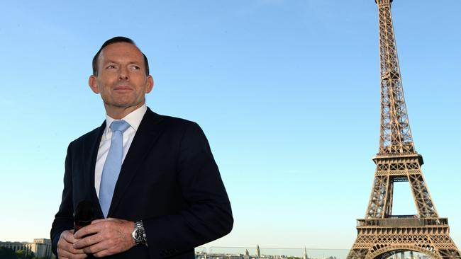 Australian Prime Minister Tony Abbott has brought a team of Australian business people to Paris. Photo: Jake Nowakowski