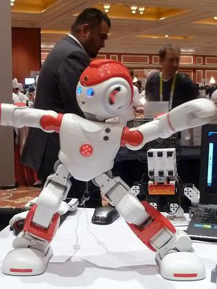 Modern moves ... Alpha 2, a humanoid robot from China's UBTech which can dance and respond to questions at the Consumer Electronics Show. Picture: AFP