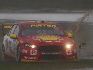 Fabian Coulthard of DJR Team Penske during the Winton SuperSprint, at the Winton Motor Raceway, Winton, Victoria, May 19, 2017. Picture: Mark Horsburgh