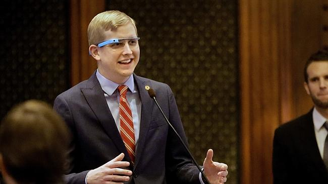 Try holding a conversation with this man and not be put off by his cyborg specs.