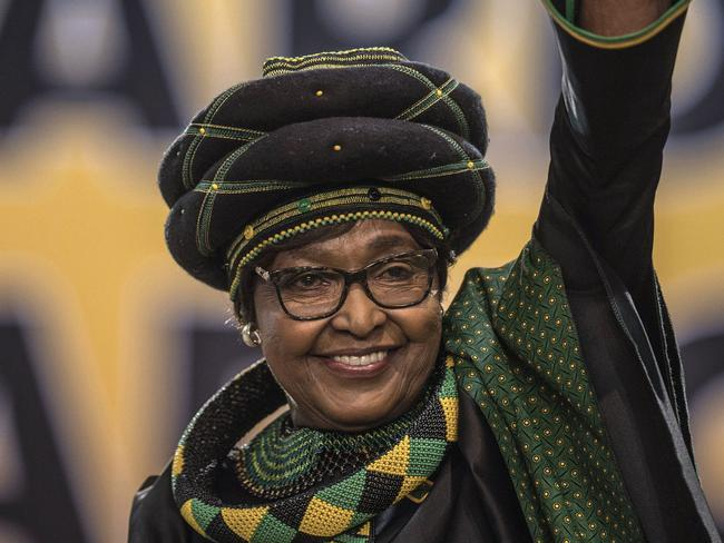 "South Africa's Winnie Madikizela-Mandela who is popularly known as ""the mother of the nation"" was admitted to hospital in January. Picture: AFP PHOTO / MUJAHID SAFODIEN"