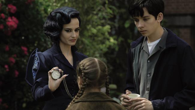 Miss Peregrine runs a tight ship with two of her peculiar children — played by Georgia Pemberton and Asa Butterfield. Picture: Twentieth Century Fox