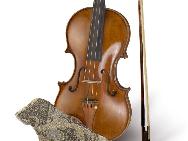 The violin Crowe used in the 2003 film Master and Commander. Photo: The Art of Divorce